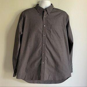 Eddie Bauer Long Sleeve Button Down Shirt Large
